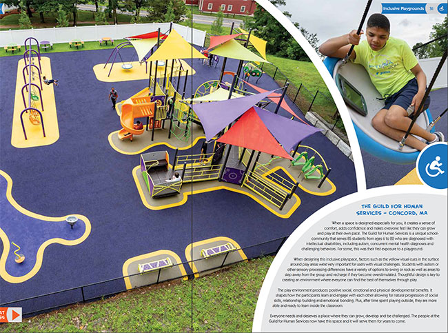 Guild playground featured in Burke Catalog