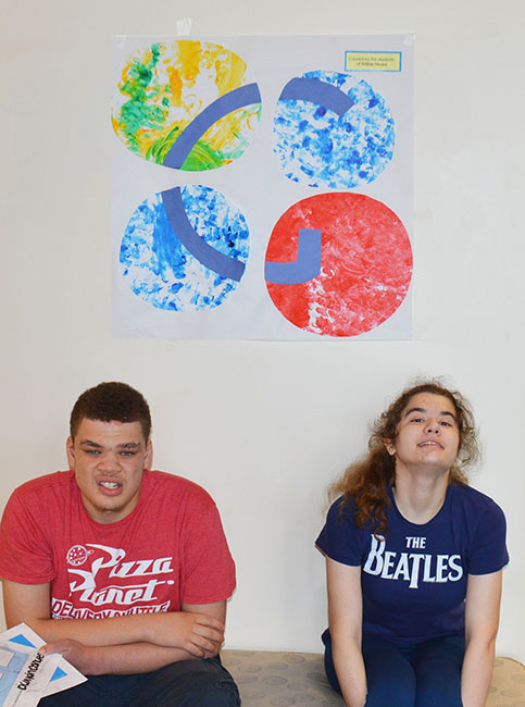 Doran (left) and Erin were elected vice president and president of the Student Council.